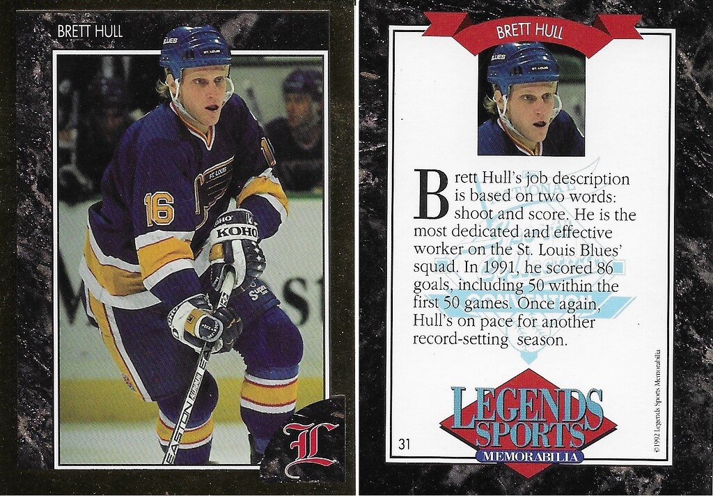 1992 Legends Magazine Insert - Hull, Brett