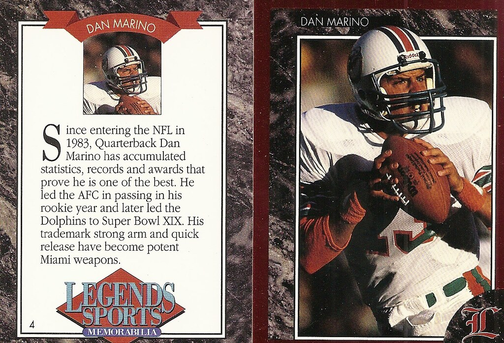 1992 Legends Magazine Insert Red - Marino, Dan
