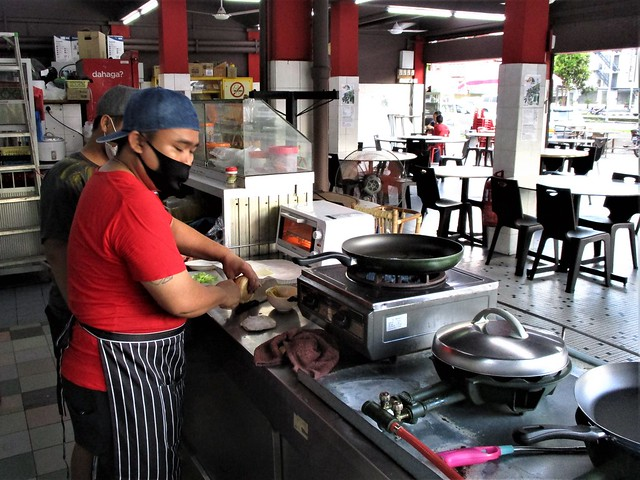 Making the burger