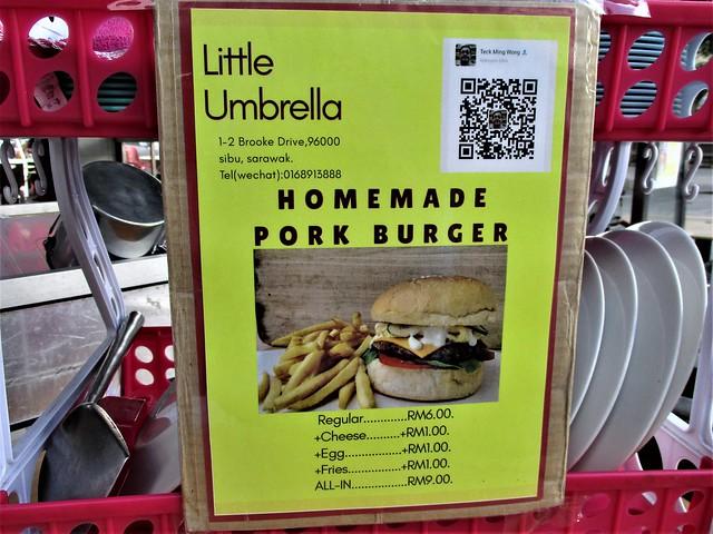 Little Umbrella pork burger sign