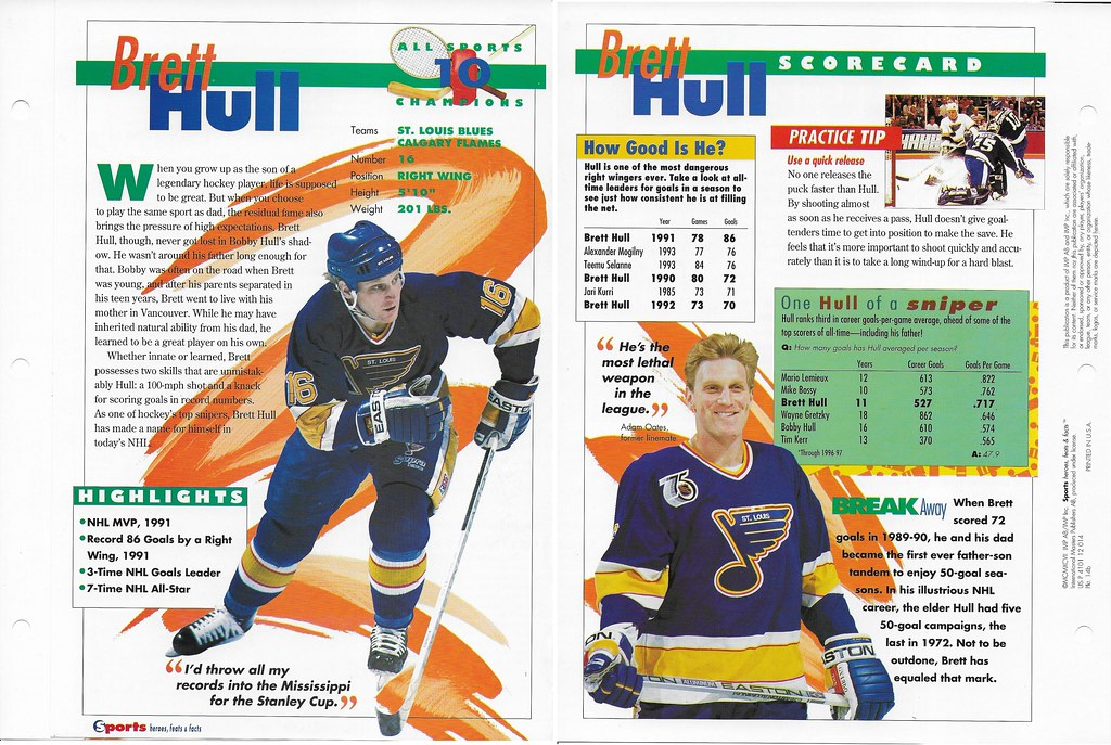 1997 Brett Hull All Sports 14b