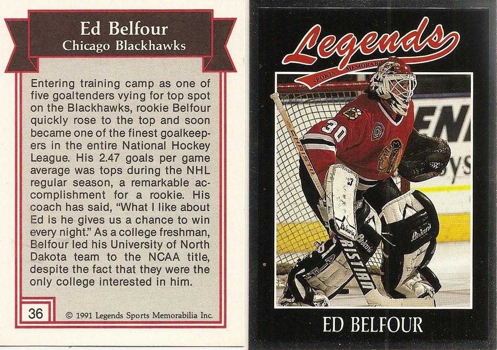 1991 Legends Magazine Insert Silver - Belfour, Ed