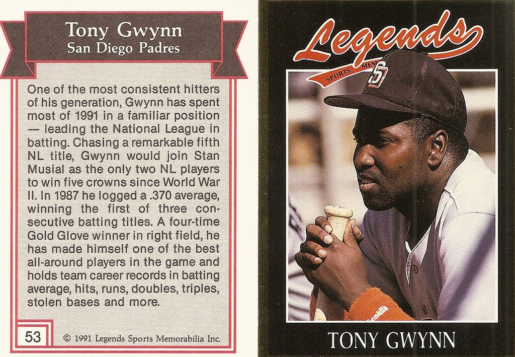 1991 Legends Magazine Insert Gold - Gwynn, Tony