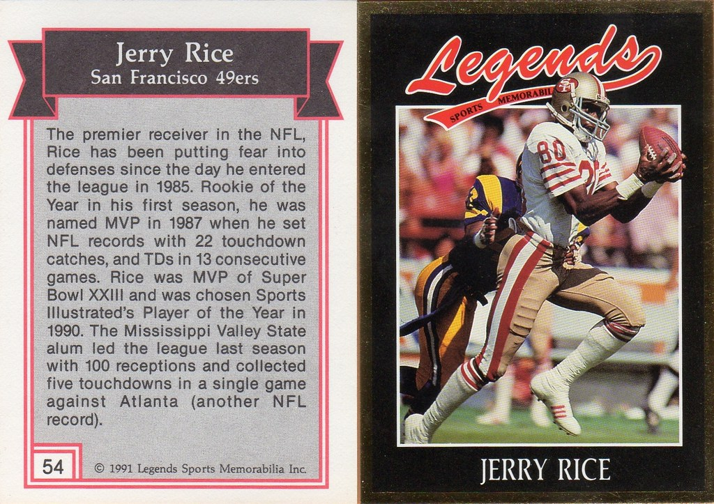 1991 Legends Magazine Insert Gold - Rice, Jerry