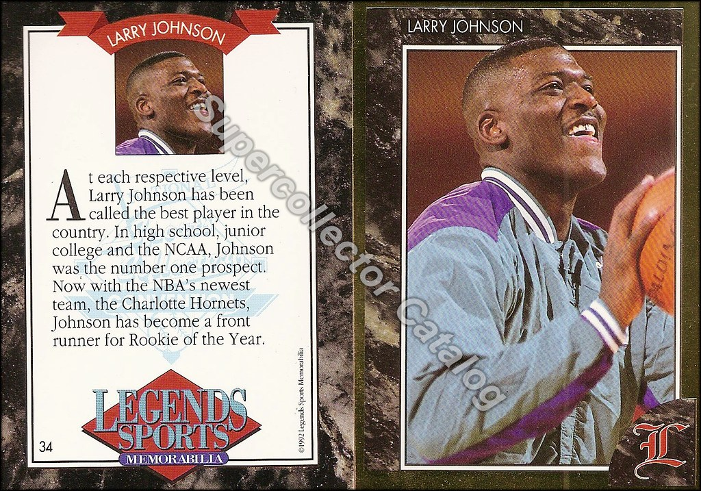 1992 Legends Magazine Insert Gold- Johnson, Larry