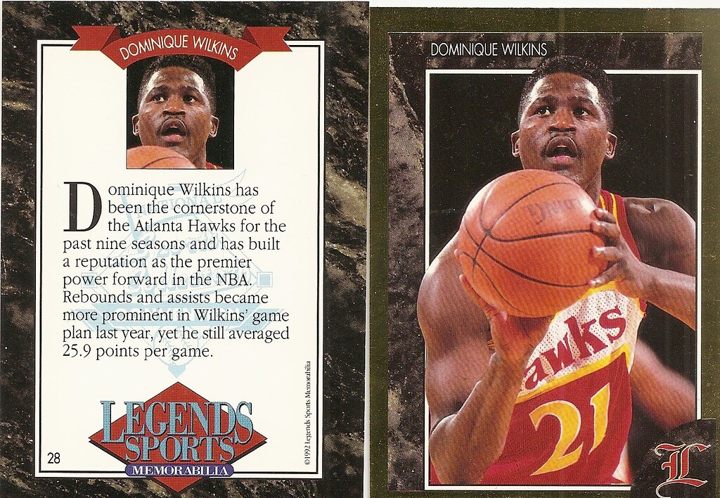 1992 Legends Magazine Insert Gold- Wilkins, Dominique