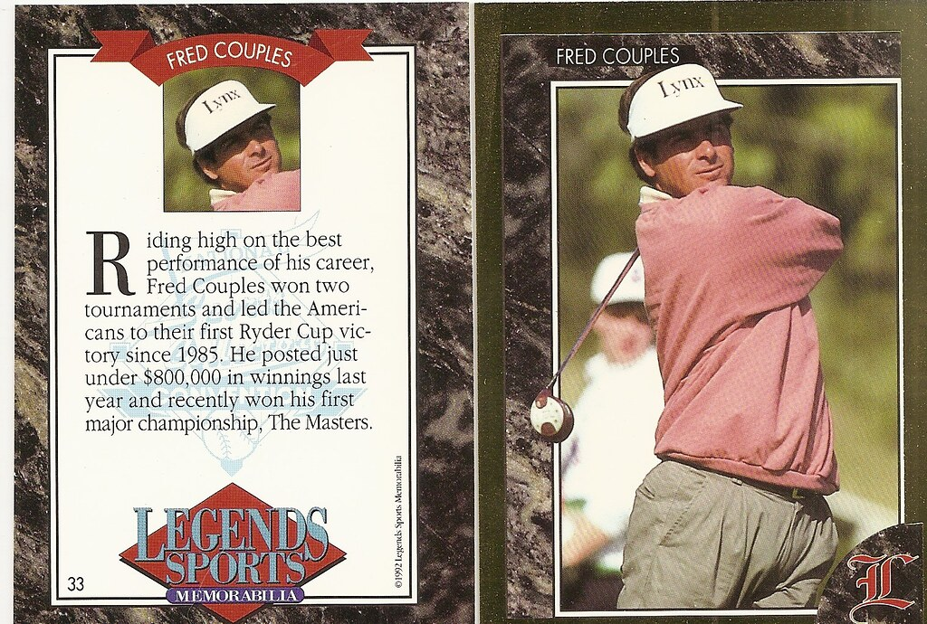 1992 Legends Magazine Insert Gold- Couples, Fred