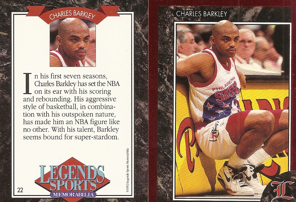 1992 Legends Magazine Insert Red - Barkley, Charles