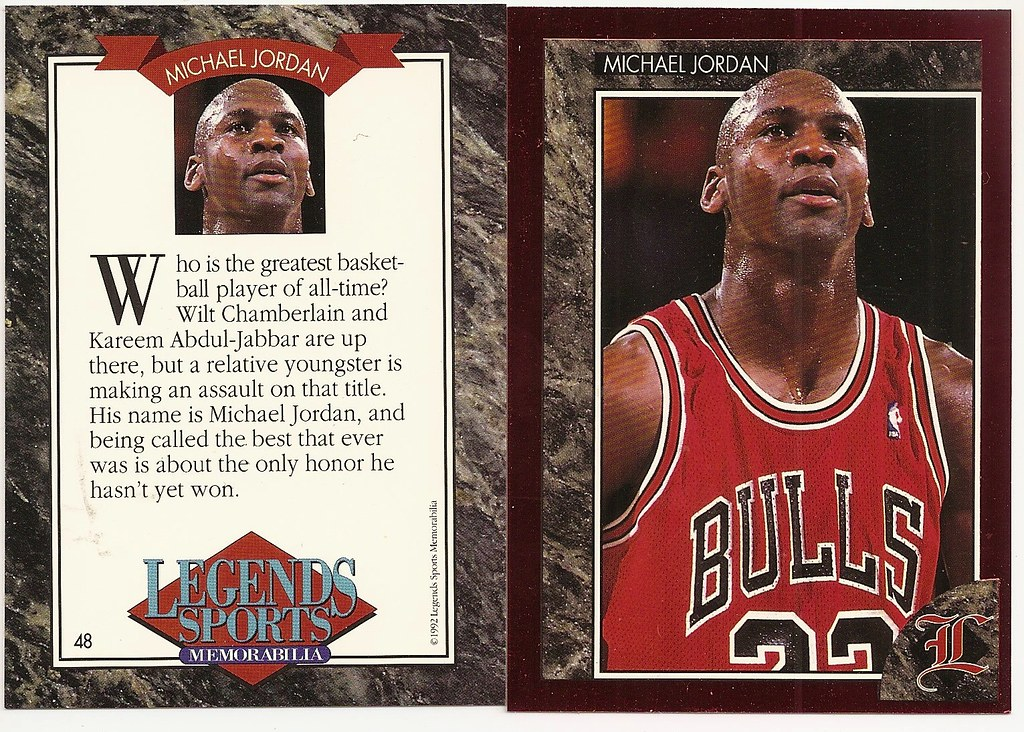 1992 Legends Magazine Insert Red - Jordan, Michael