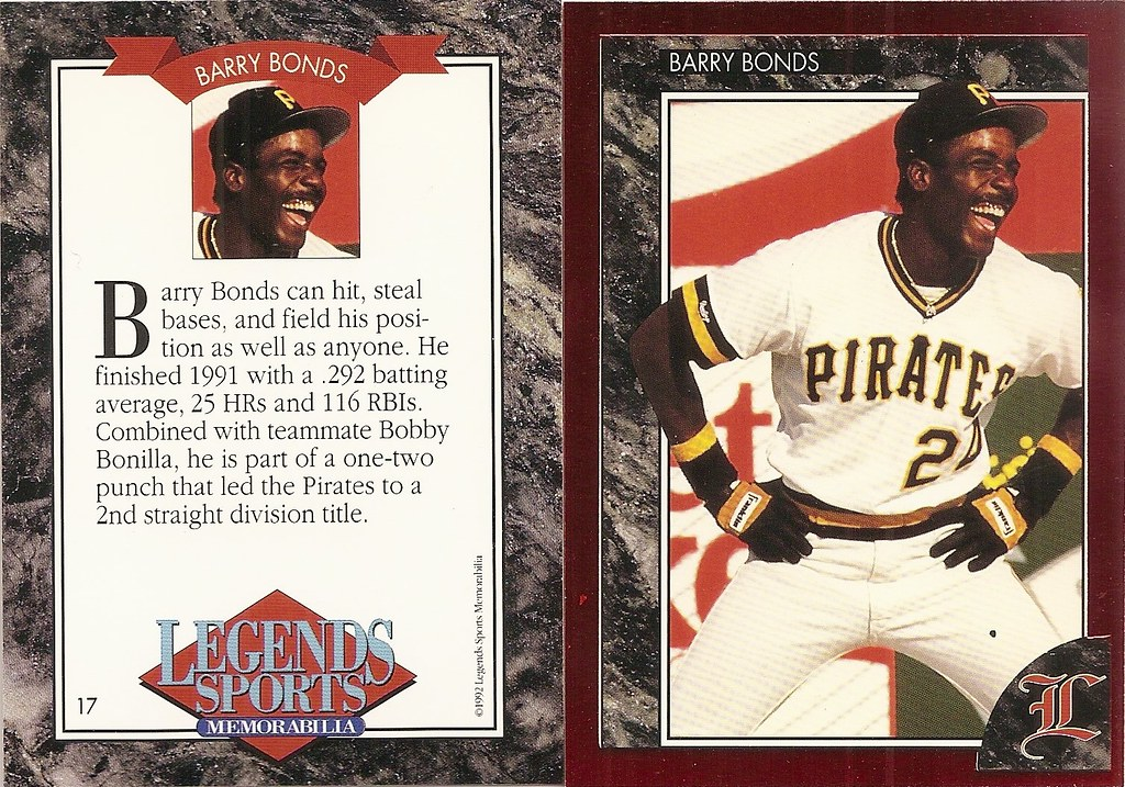 1992 Legends Magazine Insert Red - Bonds, Barry