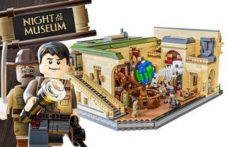 還記得那個展品全數復活的奇幻博物館嗎?! CARLIERTI 樂高 MOC 作品《博物館驚魂夜》Night At The Museum 建築模型