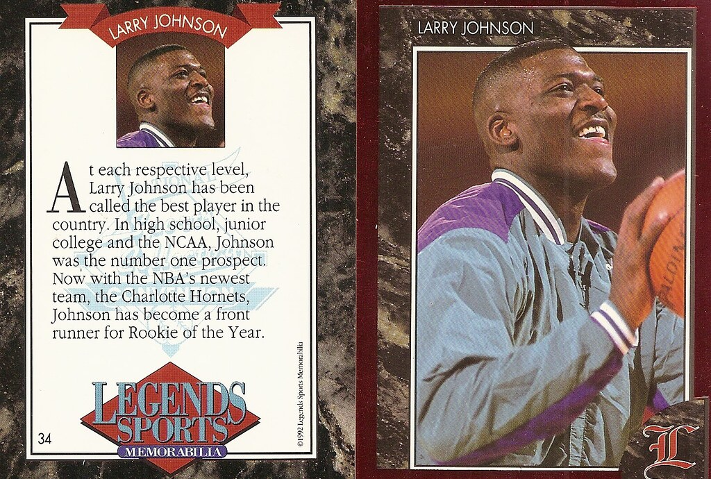 1992 Legends Magazine Insert Red - Johnson, Larry