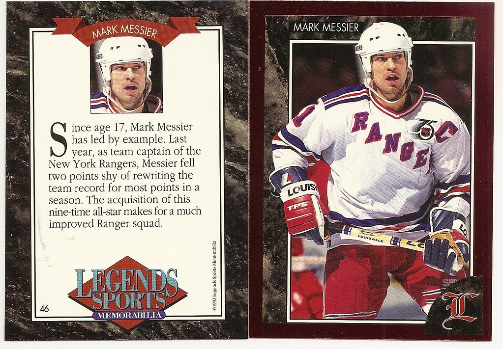 1992 Legends Magazine Insert Red - Messier, Mark