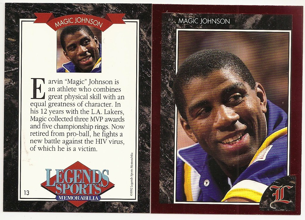 1992 Legends Magazine Insert Red - Johnson, Magic