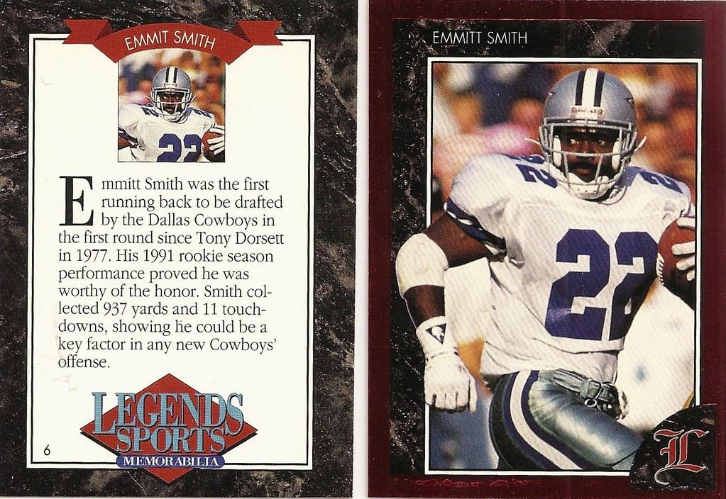 1992 Legends Magazine Insert Red - Smith, Emmitt
