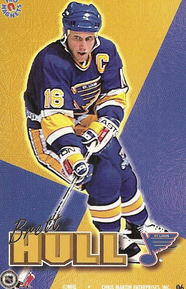 1995 Pro Magnets Hockey - Hull, Brett
