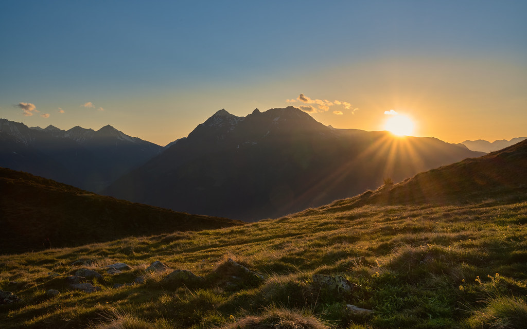 Sonnenuntergang in Salfeins