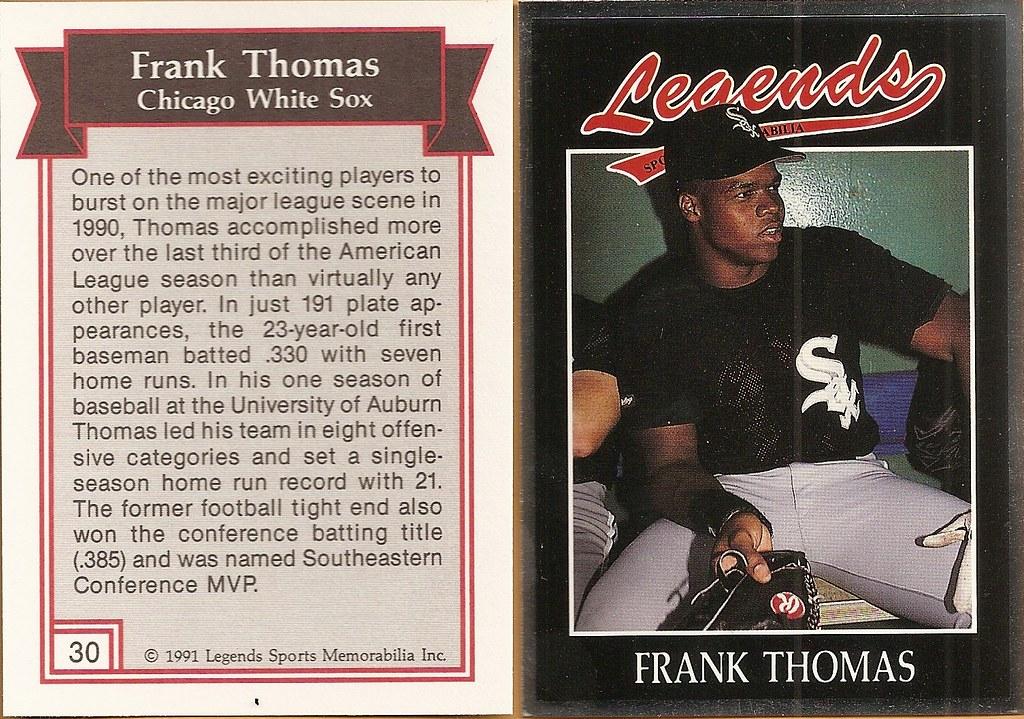 1991 Legends Magazine Insert Silver - Thomas, Frank