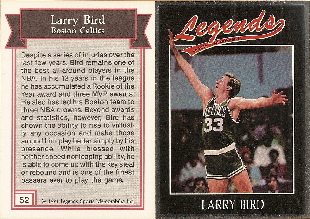 1991 Legends Magazine Insert Silver - Bird, Larry