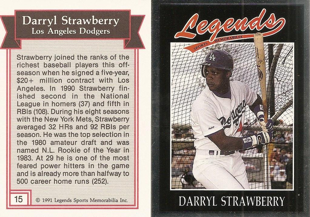 1991 Legends Magazine Insert Silver - Strawberry