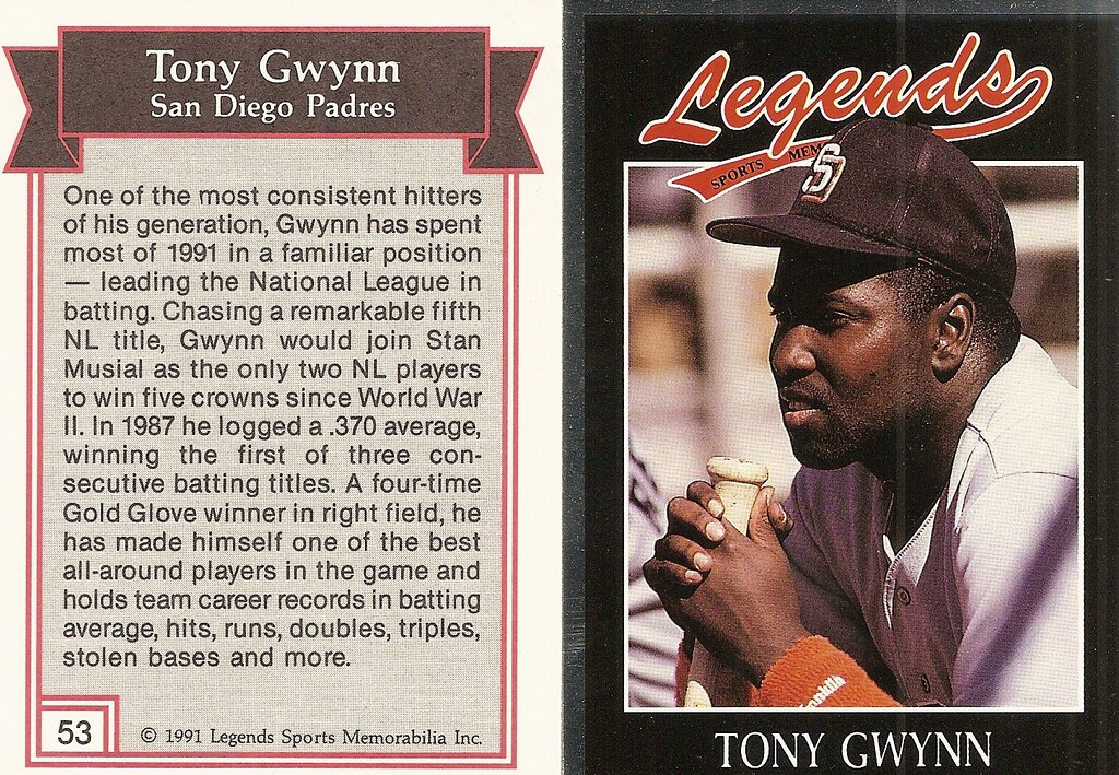 1991 Legends Magazine Insert Silver - Gwynn, Tony