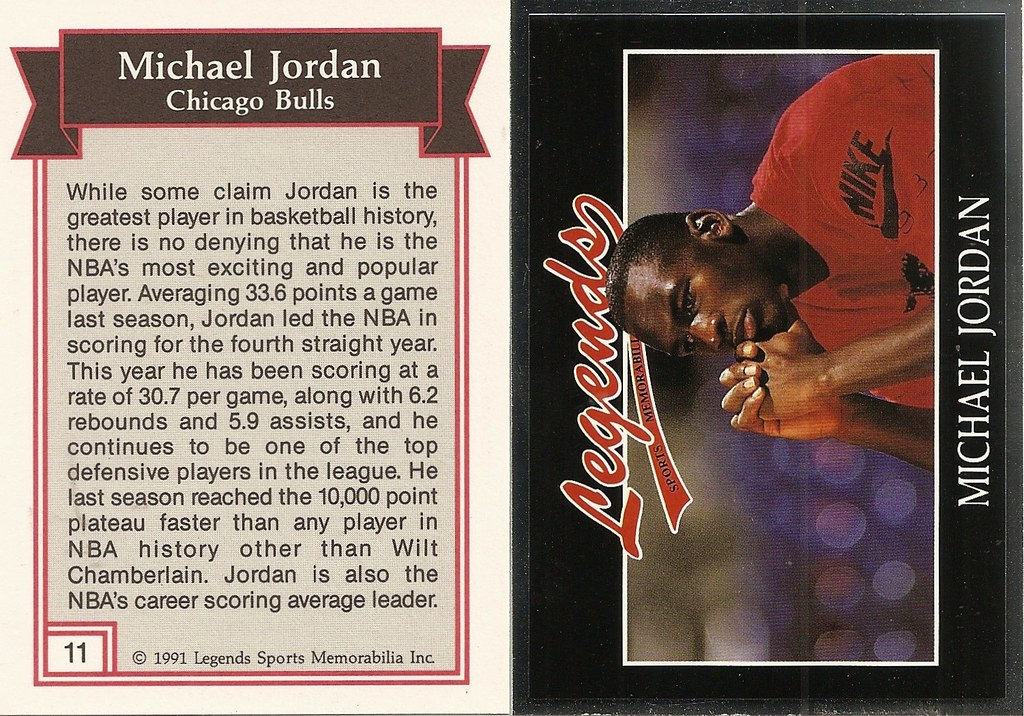 1991 Legends Magazine Insert Silver - Jordan, MIchael