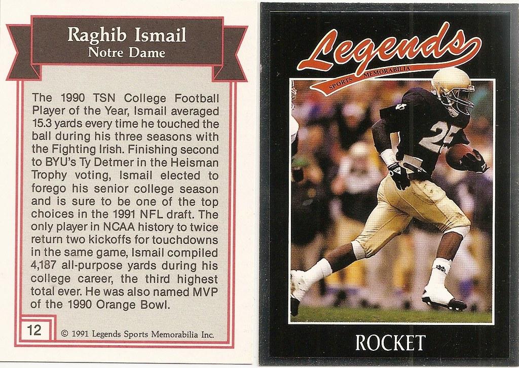 1991 Legends Magazine Insert Silver - Ismail, Rocket