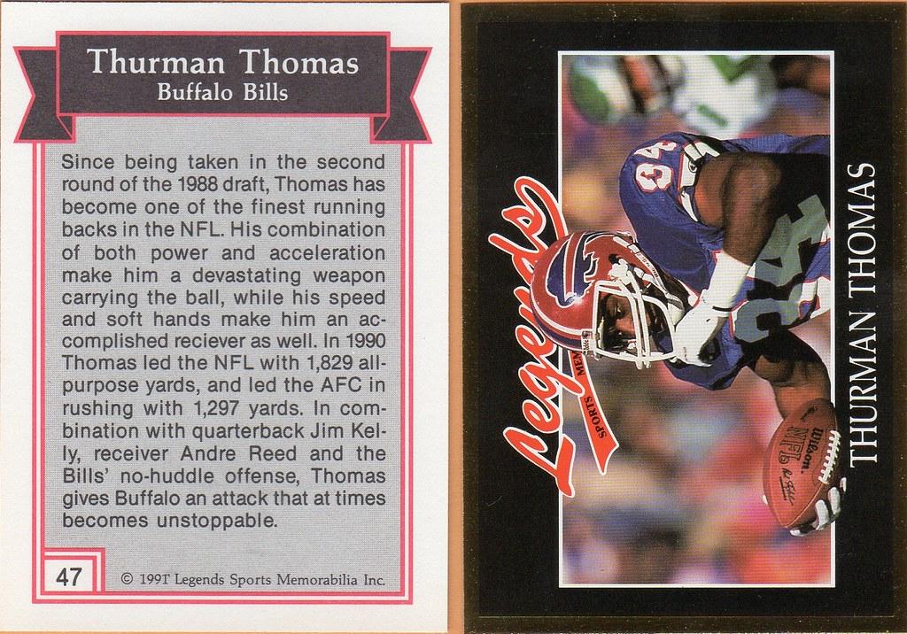 1991 Legends Magazine Insert Gold - Thomas, Thurman