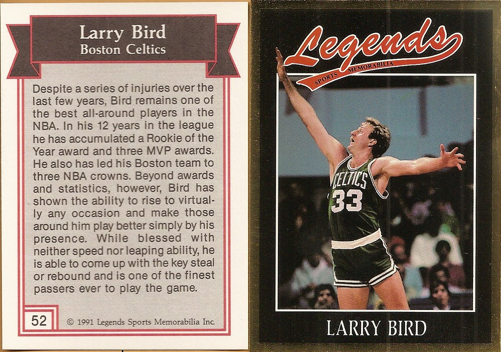 1991 Legends Magazine Insert Gold - Bird, Larry