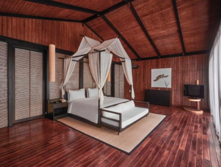 印度 Taj Exotica Resort & Spa Andaman Islands 支撐奢華別墅的支柱就是由永續人造林的木材所建造。來源:Taj Exotica Resort & Spa Andaman Islands
