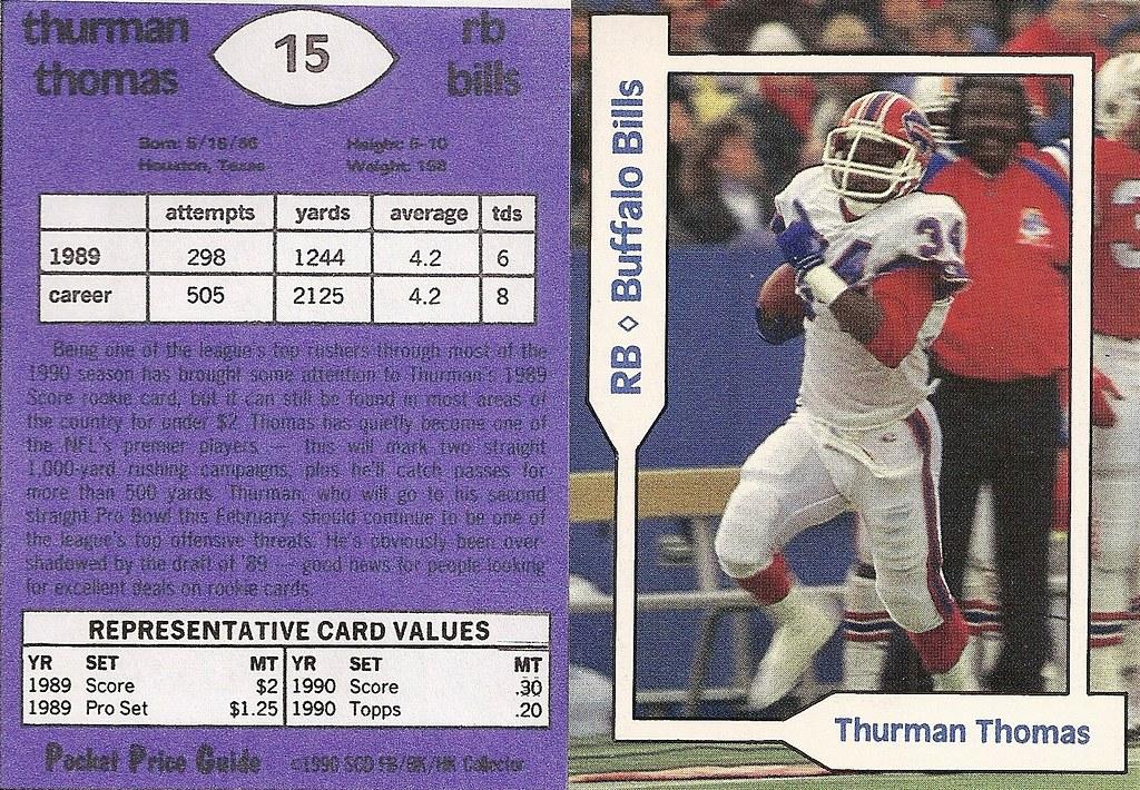 1990 SCD Pocket Price Guide FB-BK-HK - Thomas, Thurman