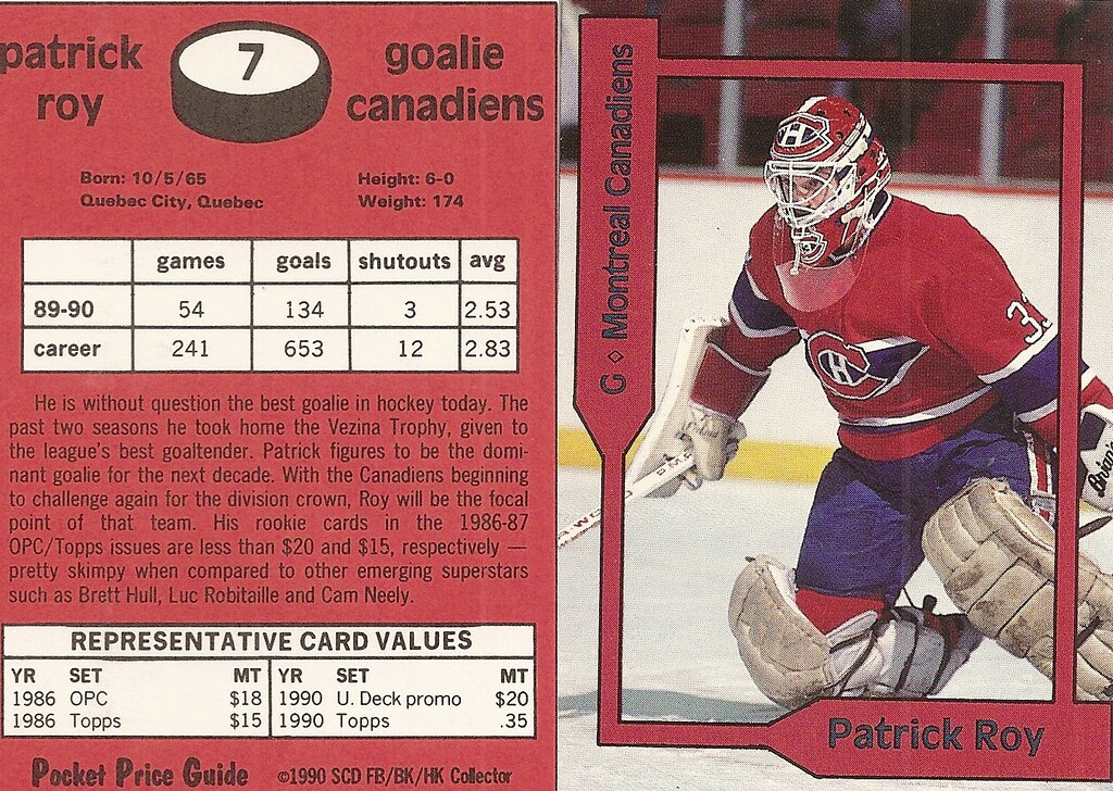 1990 SCD Pocket Price Guide FB-BK-HK - Belfour, Ed