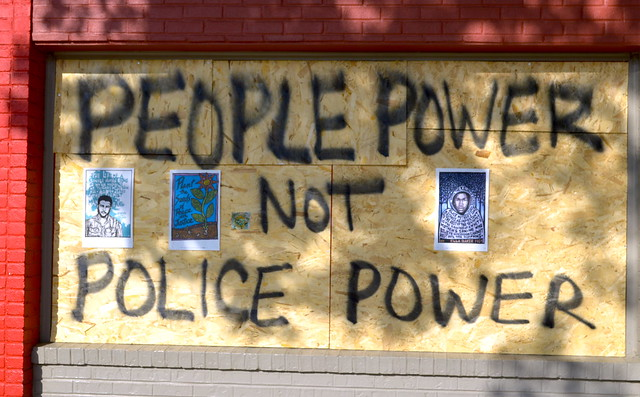 Graffiti, George Floyd protest, Minneapolis, Minnesota, June 2020