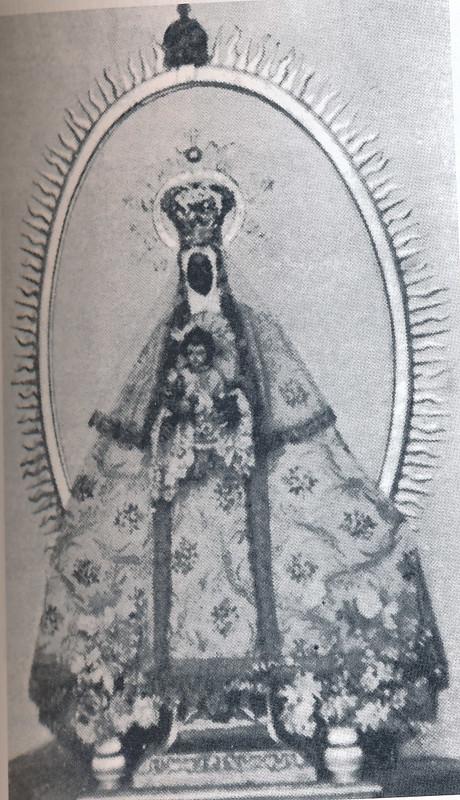 Imagen de la Virgen de la Guía, destruida en 1936