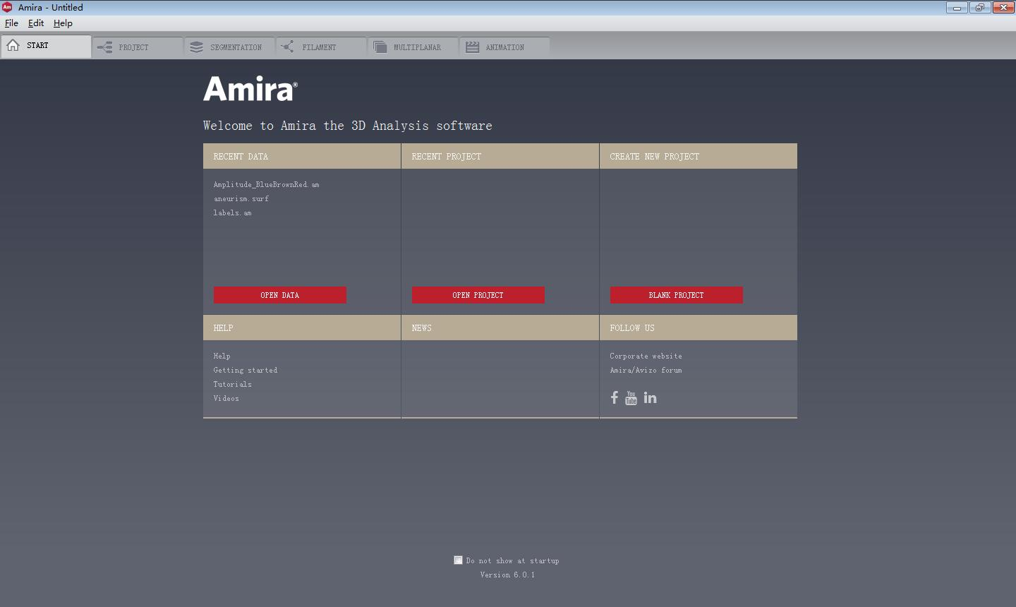 Working with FEI Amira 6.0.1 full license