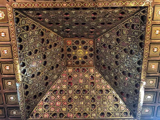 Artesonado neomudéjar de la iglesia de Santa María del Castillo (Buitrago del Lozoya, Madrid)