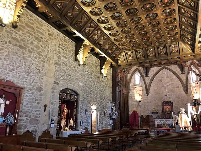 Interior de la iglesia de Santa María del Castillo (Buitrago del Lozoya, Madrid)