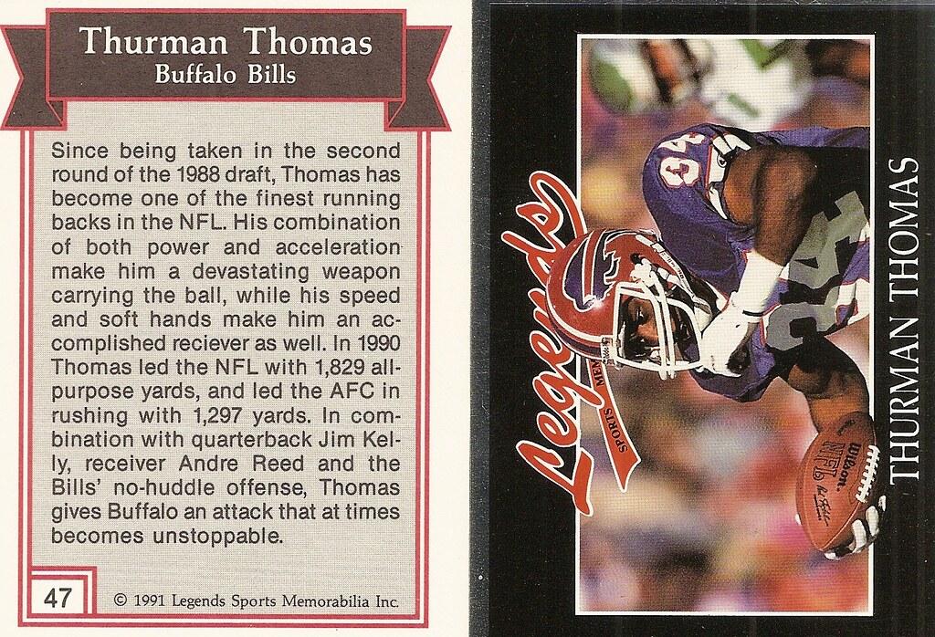 1991 Legends Magazine Insert Silver - Thomas, Thurman