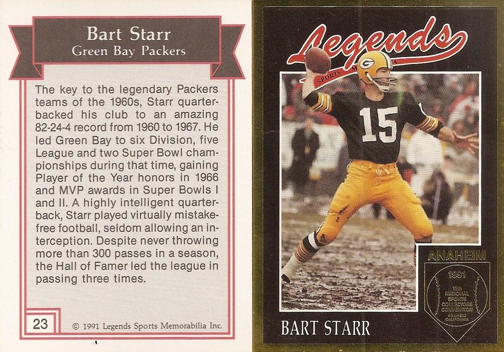 1991 Legends Magazine Insert Gold - Starr, Bart