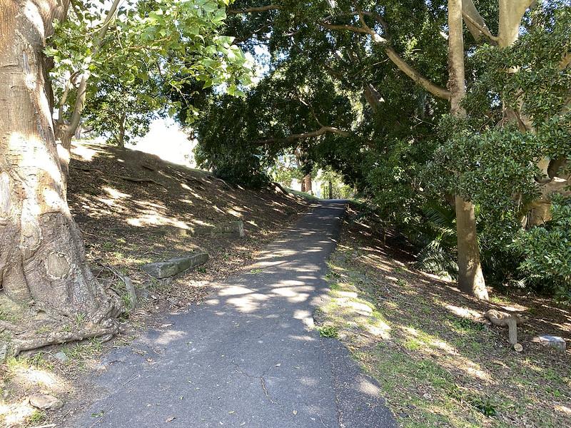 Exiting Brennan Park