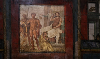 Close up of the Punishment of Ixion in the House of the Vettii at Pompeii Anno 62 | by B℮n
