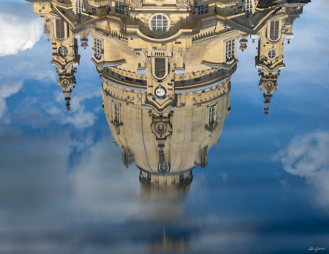 reflection of the Frauenkirche