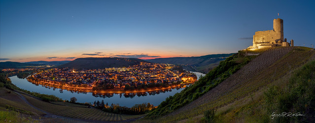 Landshut Castle and the city of Bernkastel-Kues at the blue hour!