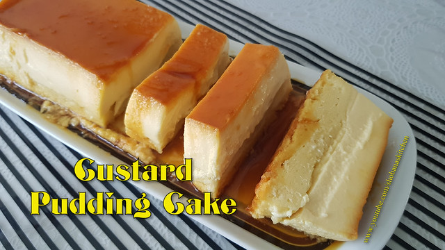 Caramel Custard Pudding Cake / Cream Cheese Custard Pudding Cake / Flan Cake / Shobanas Kitchen