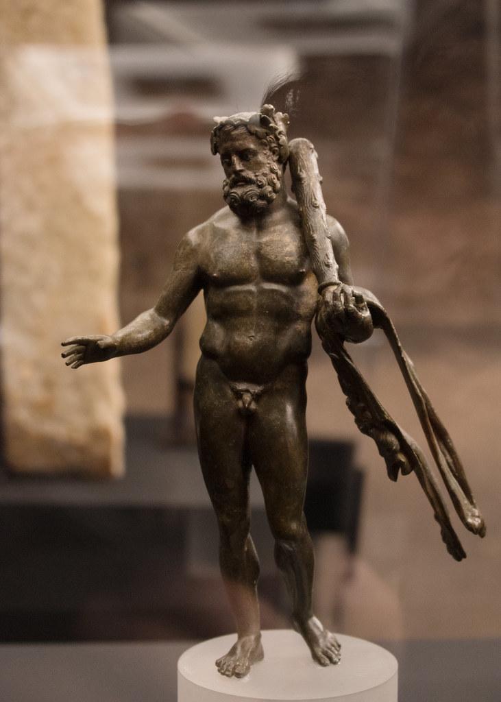 Bronze statuette of Herakles from Qaryat al-Faw