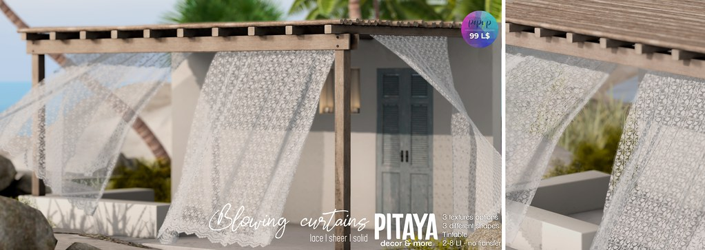 Pitaya - Flowing curtains - Pop-up event