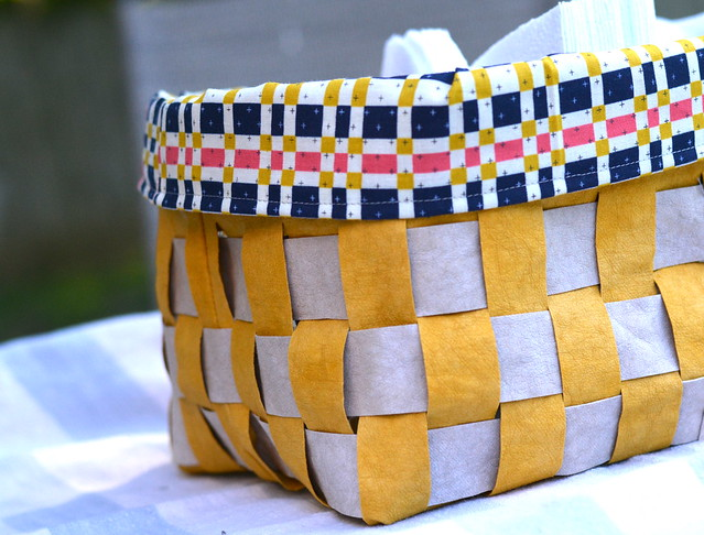 kraft-tex woven basket