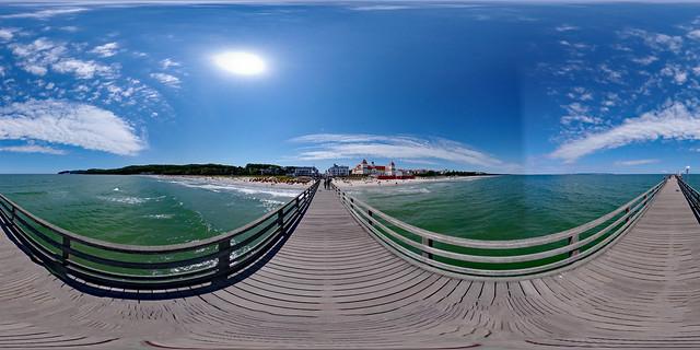 Insel Rügen - Binz, Seebrücke 360 Grad