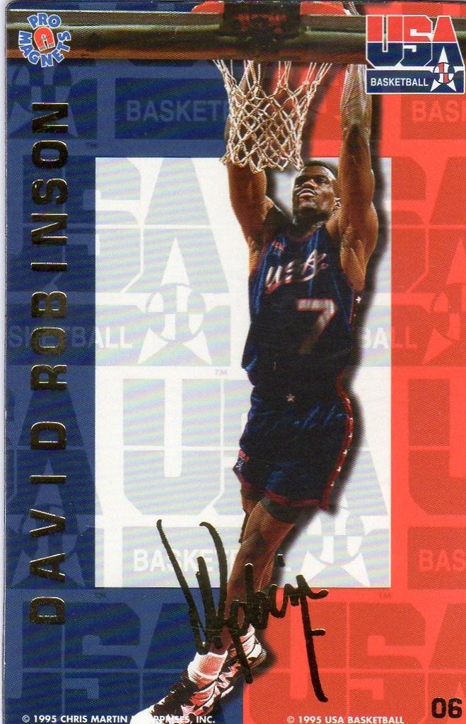 1995 Pro Magnets USA Basketball - Robinson, David