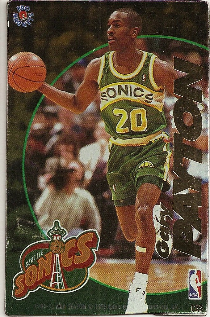1995 Pro Magnets Basketball - Payton, Gary